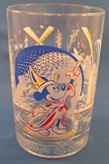 Walt Disney World Epcot 25th Anniversary Remember the Magic with Mickey Mouse Collectors Glass Cup Mug 5 1/8 inches tall by 3 1/4 diameter