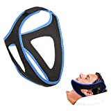 Anti Snoring Chin Straps-Snoring Solution Anti Snoring Devices Male and Female Anti-Snoring Belt Assisted Sleep Device (Blue)