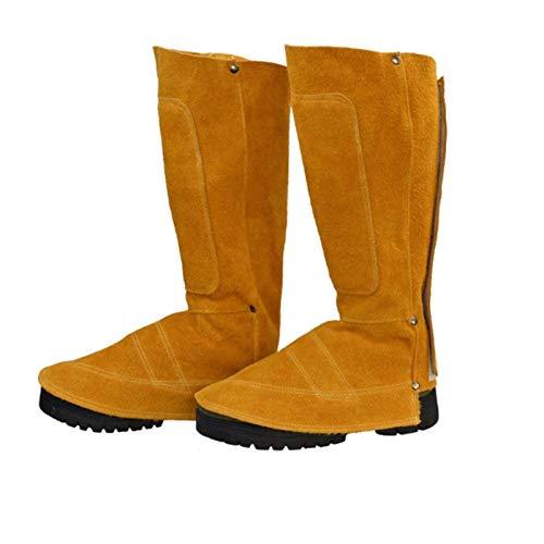 Soldadura ropa de ante del zapato protector, zapato de cuero protector, el calor y resistente a la abrasión Zapatos de soldadura polainas cubierta, Pies soldador de trabajo Cubierta de protección resi