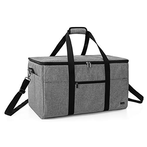 LUXJA All-in One Bag for Cricut Die-Cut Machine and Cricut Easy Press (9 x 9 inches), Carrying Case for Cricut Machine and Supplies, Compatible with Cricut Explore Air and Maker(Patented Design), Gray