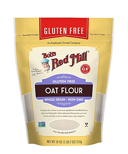 Bob's Red Mill Gluten Free Oat Flour (18 Ounce, Pack of 2)