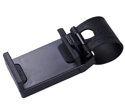 PULABO Support de téléphone portable pour volant de voiture, noir, nouveau haute qualité