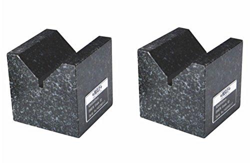 INSIZE 6897-2 Granit V-Block, 2 Stück pro Set, 100 mm x 70 mm x 50 mm