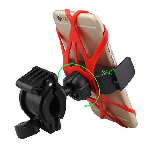 Ducomi Soporte Universal para Teléfono Móvil de Bicicleta con Rotación de 360 Grados, Soporte para Manillar de MTB, Moto y Ciclismo para Smartphones, GPS, MP3 Dispositivo Delgado a 9,5 cm (Modelo 3)