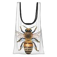 蜂 エコバッグ 買い物バッグ コンビニバッグ ランチバッグ おしゃれ 折りたたみ 軽い 大容量 収納 水や汚れにも強い 男女兼用