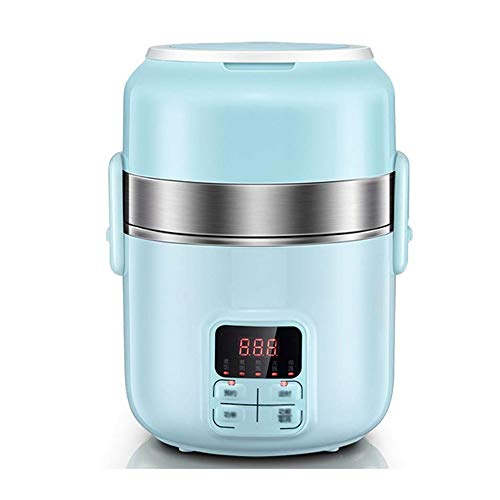 fiambrera Mini eléctrico enchufable de calefacción y aislamiento de tres capas Caja de almuerzo eléctrica, anti-escaldado y antitérmicos bloqueo, sellado sin fugas, utilizados en los automóviles, hoga