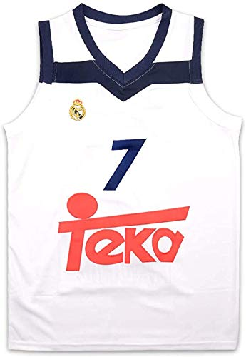 Luka Doncic 7 Real Madrid White Basketball Jersey Stitch (38-40)