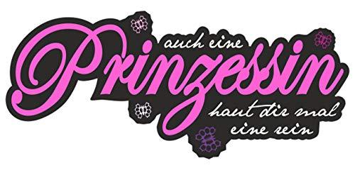 Aufkleber auch eine Prinzessin Haut dir mal eine rein, sonstiges:kleine Aufkleber