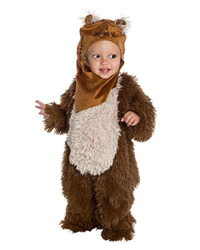 Horror-Shop Star Wars - Kuscheliges Ewok Kostüm für Kinder für kleine Weltraumhelden Baby (1-2 Jahre)