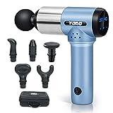 TODO Deep Tissue Massager Percussion Massage Gun Handheld Electric Muscle Massager(Blue)