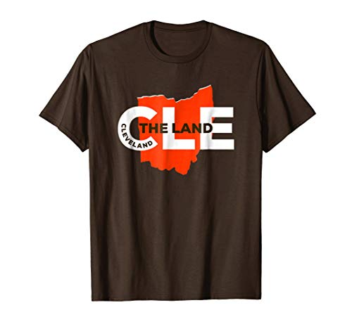 Cleveland Ohio The Land Design with Ohio Map and CLE Slogan