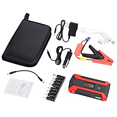 89800mAh 12V LCD 4 USB Car Jump Starter Pack Booster Charger Waterproof Battery Power Bank