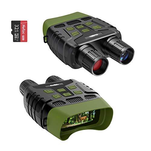 """COOLIFE Binocular de visión Nocturna Digital para Caza, Alcance de visión Nocturna por Infrarrojos de 984 pies y Video HD Image 960P, LCD TFT de 2.31\"""" con Tarjeta de 32GB"""