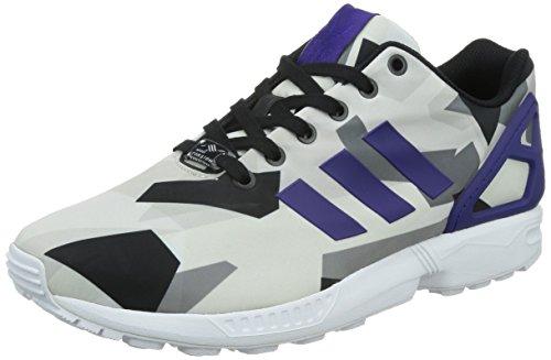 adidas ZX Flux, Zapatillas Altas Hombre, FTWR White/Collegiate Purple/Core Black, 43 1/3