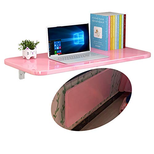 FMSBSC Wandklapptisch,Holz Wandtisch klappbar Küchetisch Beistelltisch Laptoptisch Esstisch Ecktisch Schreibtisch Mehrzwecktisch, Tavolo rosa a parete,80 * 40cm/31 * 16in