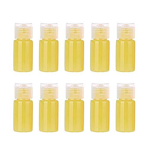 xaihe10 botellas de spray de 11 ml de plástico transparente de colores de caramelo de niebla, botellas atomizadoras de viaje, recipientes de líquido recargables para maquillaje cosmético