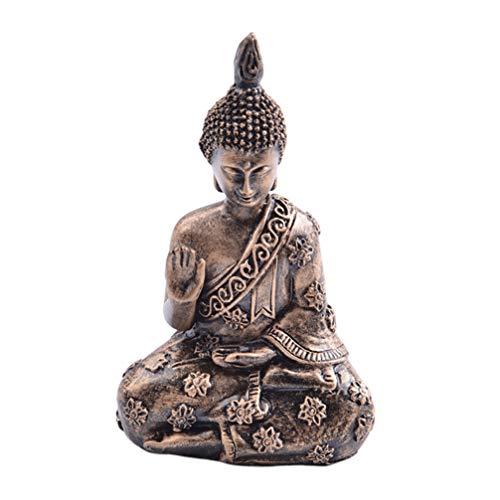 VOSAREA Estatua de Buda Ornamento Resina Estilo asiático del sudeste meditativa Figura de Buda Adorno de Escritorio para decoración de Sala de Estar Regalo