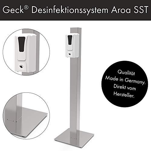 Desinfektionssystem Aroa | Stationär mit SensorTouch | Kontaktlose Desinfektionssäule mit Sensor | Geck® | Art.-Nr.: 1881000059188