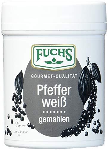 FUCHS Pfeffer weiß gemahlen, für gut zu dosierende und leicht milchige Schärfe im Zweierpack (scharfes Gewürz in Dose), 3er Pack (3 x 60 g)