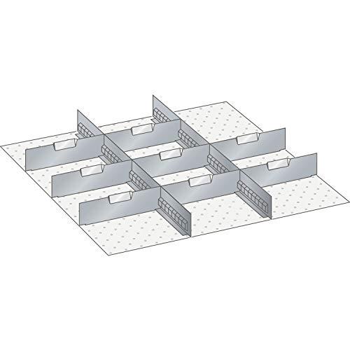 Lista 100.348.000 Einteilungsmaterial Trennwände x 36E für Fronthöhe 75 mm 10-TLG