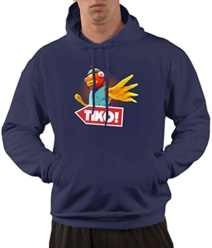Men's Hoodies T-i-k-o Hero Hooded Shirts with Front Pocket Pullover Sweatshirt,X-Large