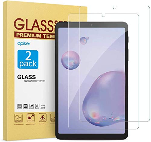apiker 2 Pack Tempered Glass Screen Protector Compatible with Samsung Galaxy Tab A 8.4, High Definition, Case Friendly