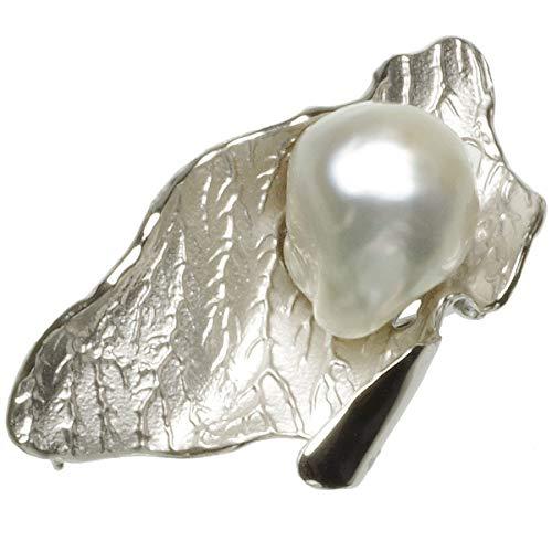 南洋 白蝶真珠 パール ブローチ 約12.0mm シルバー SV バロック 真珠 ホワイト