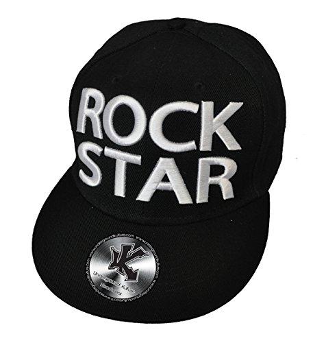 Underground Kulture ROCK STAR Baseball-Kappe, Schwarz