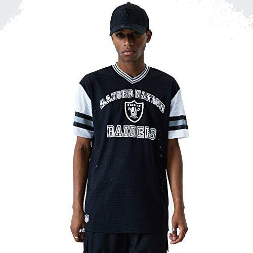 New Era Las Vegas Raiders Oversized T Shirt/tee NFL Stripe Sleeve Black - L