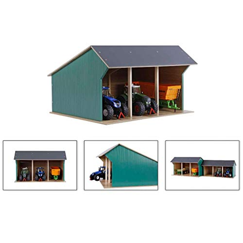 Kids Globe Farm Shed for Tractors Big 1:32 Wood Toy Barn Buildings 610193