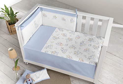 Pielsa 122196 Baby - 3379-4, Edredón Más Protector Cuna, Bebe, Bebe Cama, Color Azul, Tamaño 120 x 60