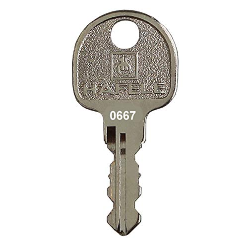 HÄFELE Ersatzschlüssel 0501 bis 1000 - für Häfele Hebelzylinder, Möbelschlösser, Spindschlösser etc. - Nachschlüssel, Zusatzschlüssel - Schließung 0720