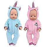 WENTS Disfraz de Unicornio Bebe Baby Born Onesie Unicorn Pelele de muñeca Ropa de Bebe Unicornio...