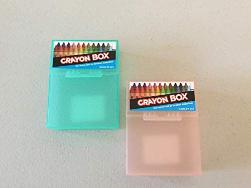 2 Crayon Boxes. No More Lost or Broken. Holds 24 pcs Each Box.