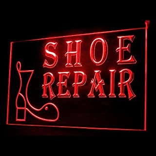 190025 Open Shoe Repair Ladies Leatherworking Boot Display LED Light Sign