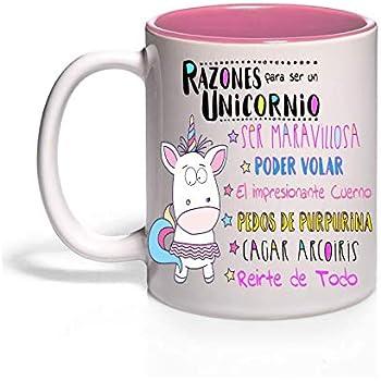 en ingl/és Regalo Original con Frases Divertidas para desayunos - Doggycorn MUGFFINS Taza Unicornio
