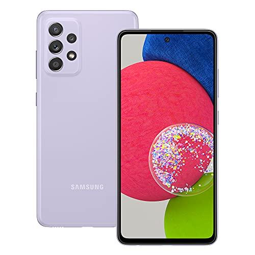 Samsung Galaxy A52s 5G Smartphone ohne Vertrag 6.5 Zoll Infinity-O FHD+ Bildschirm 128 GB Speicher 4.500 mAh Akku & Super-Schnellladefunktion Violet 30 Monate Herstellergarantie [Exklusiv bei Amazon]