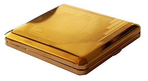 GERMANUS Zigarettenetui, Made in Germany, Mit echtem Gold vergoldet, Motiv R