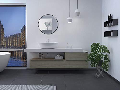 Spiegel rund Black Circle - Spiegel schwarz mit Ø 60 cm - Wandspiegel mit hochwertigen Aluminiumrahmen in schwarz
