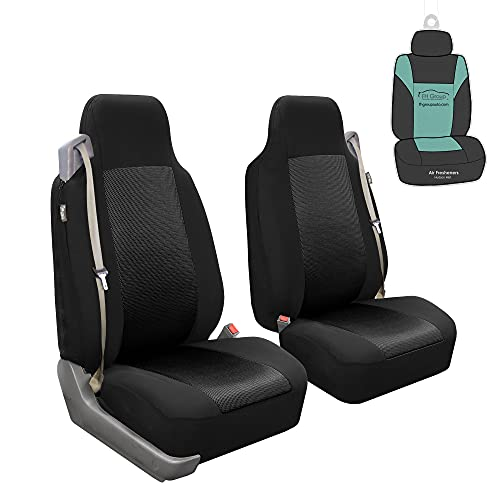 FH Group FH-FB302102 All Purpose Flat Cloth Built-in-Seat Belts Car Seat Covers...
