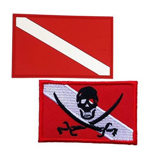 MOUNTAIN MEN 4pcs del Buceo con escafandra de Buceo buceador Bandera de la divisa del Remiendo de Mochila del Bolso del Engranaje Piscina de Agua Accesorios Lago Bay Deportes de Aventura Diver