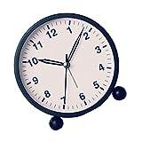 Guangcailun Desarrollado metálica Redonda Caso de Pila del Reloj del Sitio de los niños Dormitorio Cuarzo Fuerte Alarma decoración de la Tabla del Reloj