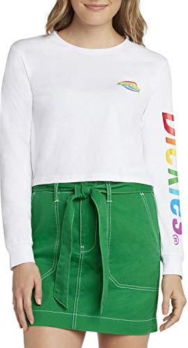Dickies Girl - Long Sleeve Crop T-Shirt, Small, Wh