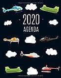 Helicóptero Agenda 2020: Planificador Annual | Enero a Diciembre 2020 | Ideal Para la Escuela, el Estudio y la Oficina