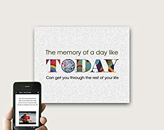 Today By Brad Paisley Print, QR Code First Dance Lyrics Art, 1 year Paper Anniversary Gift For Him/Her, 2 Year Cotton Anniversary Gift for Husband/Wife, Print Only