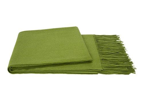 a & R Cashmere 100GRS 100% Cashmere Throw, Grass