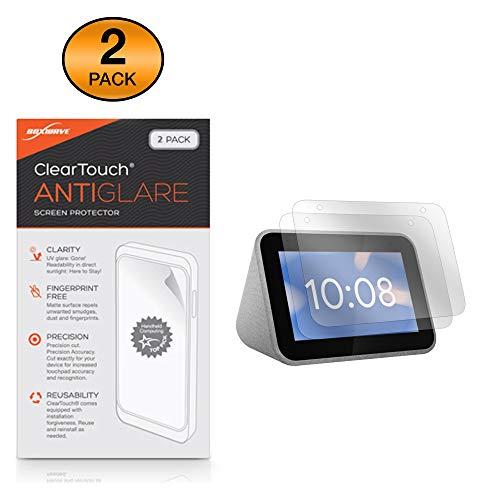 Lenovo Smart Clock Screen Protector, BoxWave [ClearTouch Anti-Glare (2-Pack)] Anti-Fingerprint Matte Film Skin for Lenovo Smart Clock