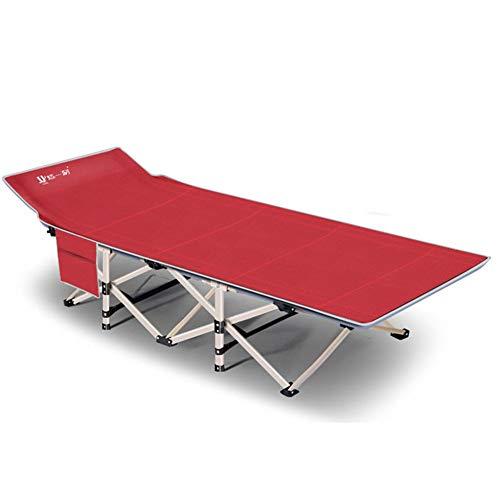 Zjcpow-SP Cama plegable ultraligera plegable para pesca, camping, dormir, mochila portátil, tienda de campaña, muebles de interior y exterior (color: rojo, tamaño: 67 x 190 x 35 cm)