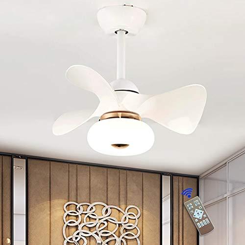 JAHQ 3b ventilador de techo con luz y mando a distancia, 36 w, función verano/invierno, 6 velocidades, 55 cm de diámetro y 3 aspas