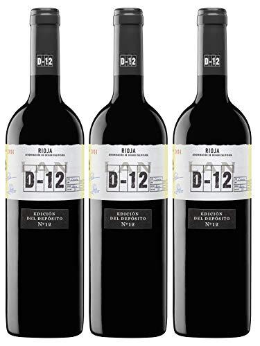 Vino Tinto LAN D-12 Crianza D.O.Ca. Rioja - 3 botellas de 750 ml - Total: 2250 ml